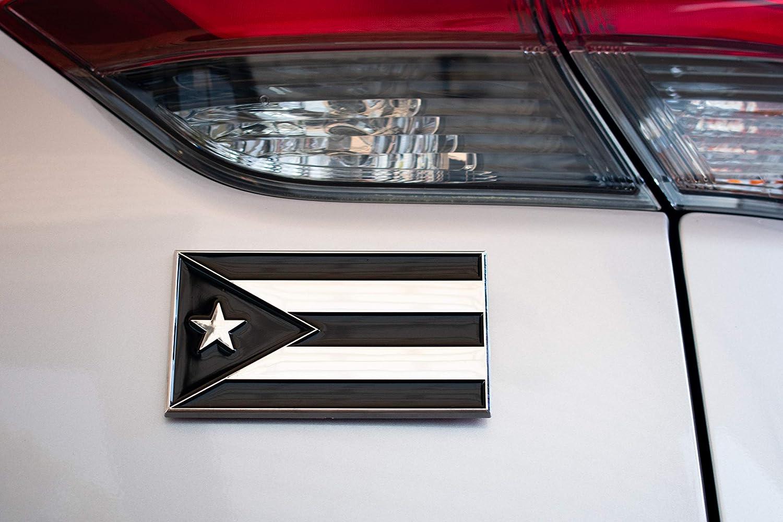 FLAG OF PUERTO RICO PUERTO RICO FLAG CAR GRILLE BADGE EMBLEM
