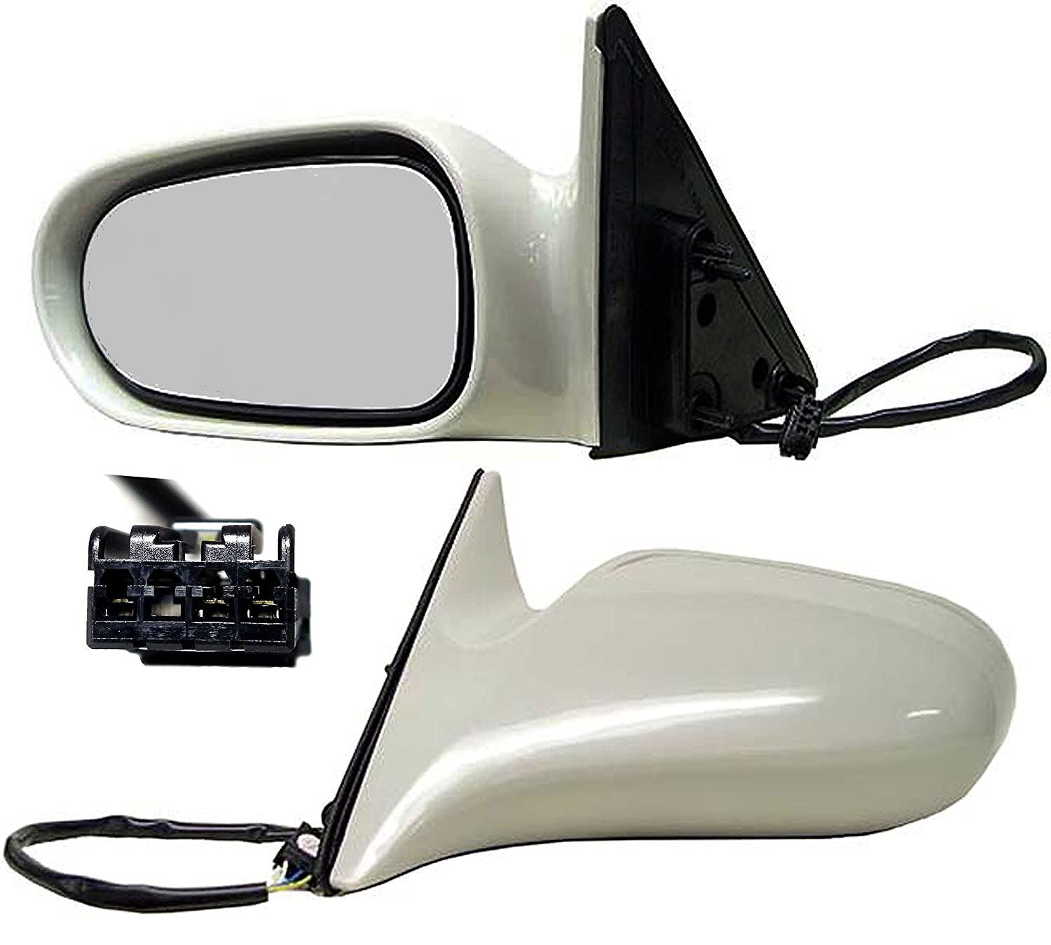 Gray Models Made In U.S.A. Only; Replaces GD7C69180CUK, GD7C69180ANN APDTY 0662627 Power Side View Mirror Assembly Fits Driver Side Left 1998-1999 Mazda 626