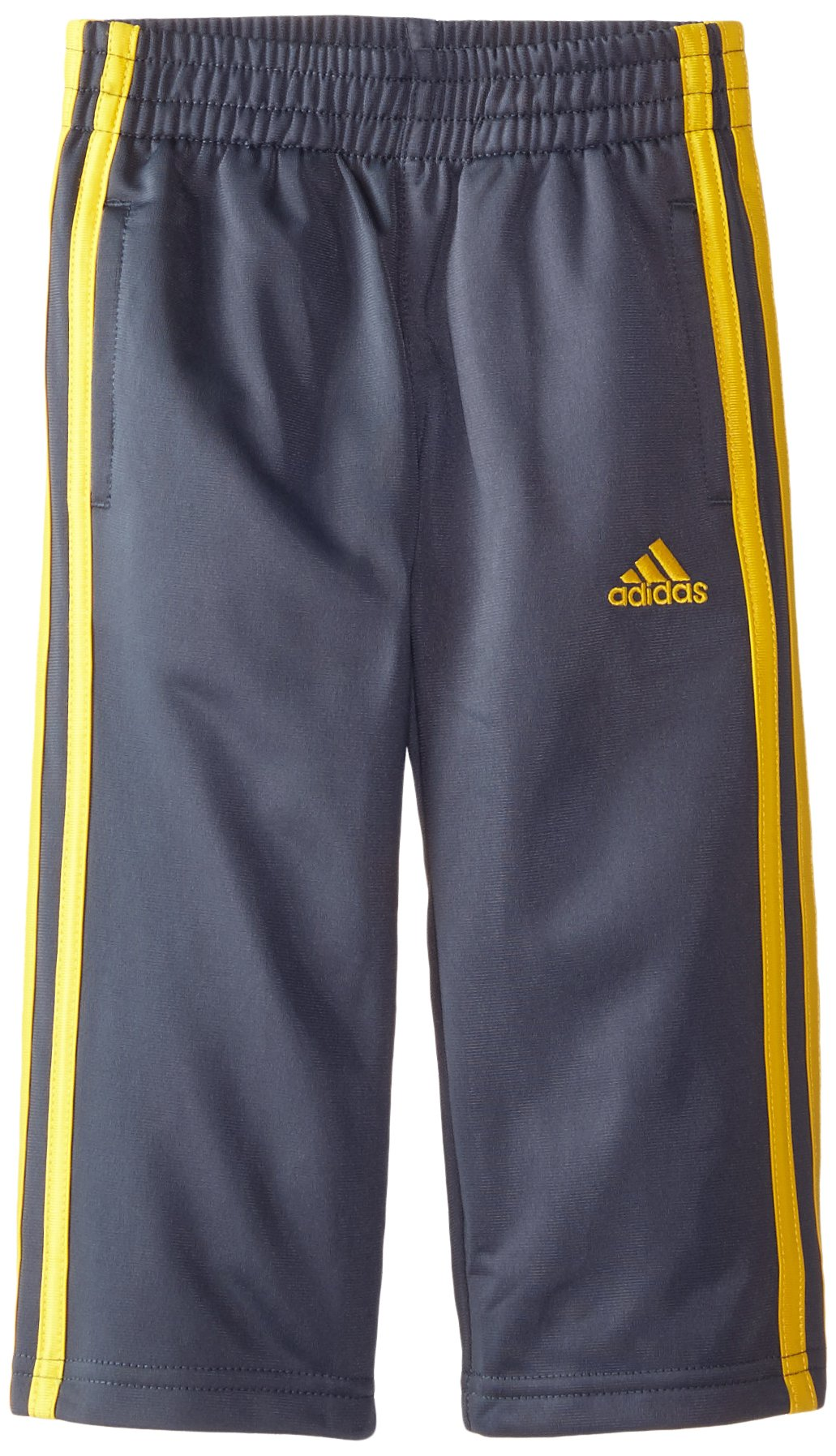 adidas Little Boys' Tricot Pant, Mercury Grey/Super Yellow/Heather, 5