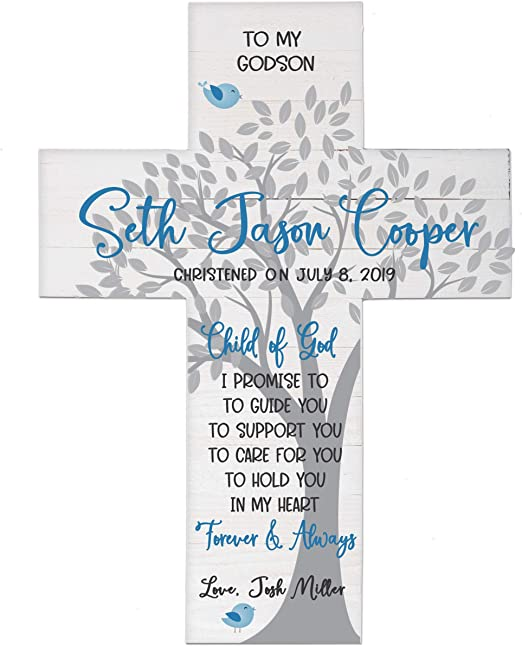 1st Holy Communion Personalised GIRL CROSS gift by Truly for You