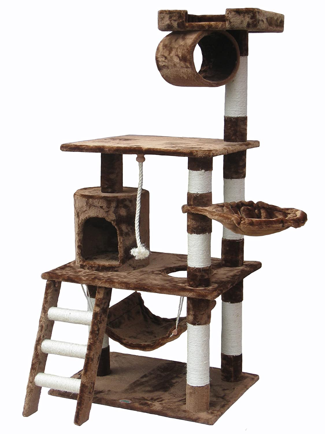 go pet club f inch cat tree condo furniture brown amazonca  - go pet club f inch cat tree condo furniture brown amazonca petsupplies