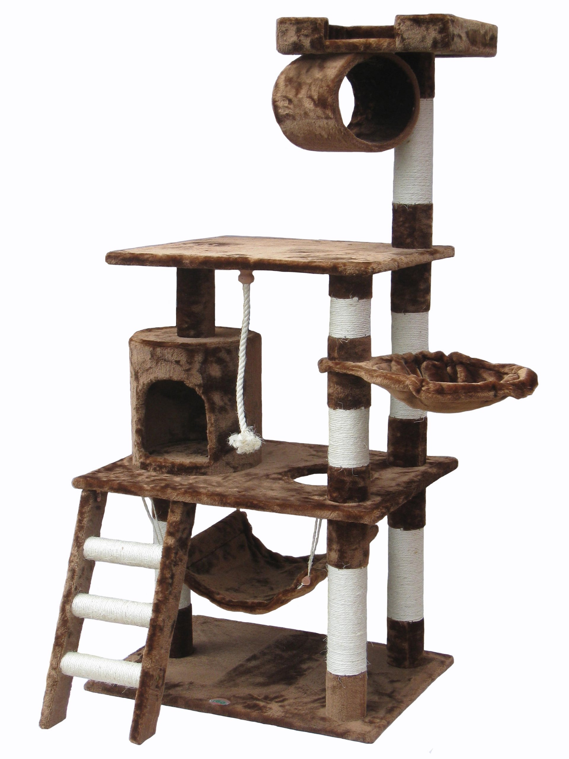 Go Pet Club Cat Tree Furniture 62 in High Brown