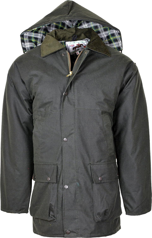 Kentex Online Men's British Quilted Rain Jacket Oily Waxed Coat Fishing Farming