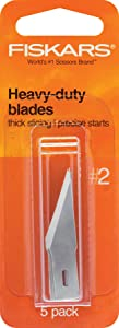 Fiskars 164100-1001 Heavy-Duty Number 2 Blades, 5 Pack