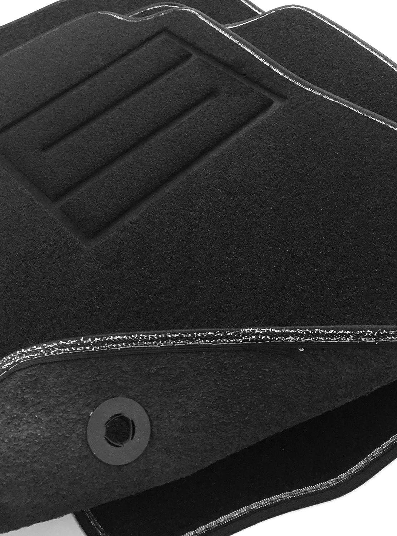 Tappetini per Astra K 2015-2019 tappeti Auto in Moquette con battitacco e Bottoni