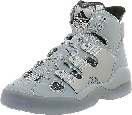 Amazon.com | adidas Men's EQT B-Ball Basketball Shoe, Silver/White ...