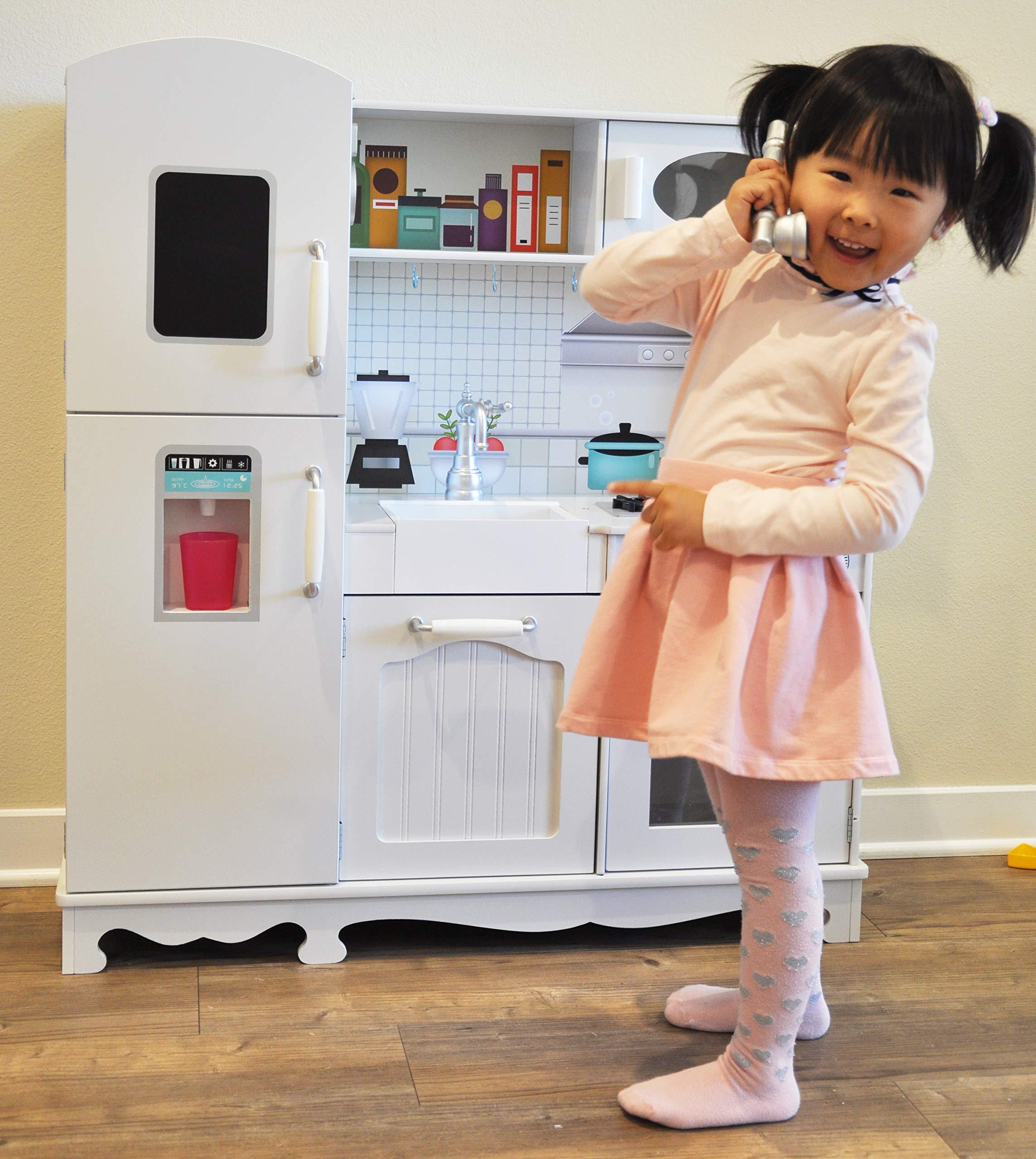 Rainbow Sophia Timeless Wood Kids Play Kitchen by Rainbow Sophia (Image #3)
