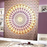 Craft N Craft Tapestry Wall hangings Tapestry Hippie Tapestries for bedroom Dorm Blue Mandala beach curtain Wall Art Decor Queen Bedspread