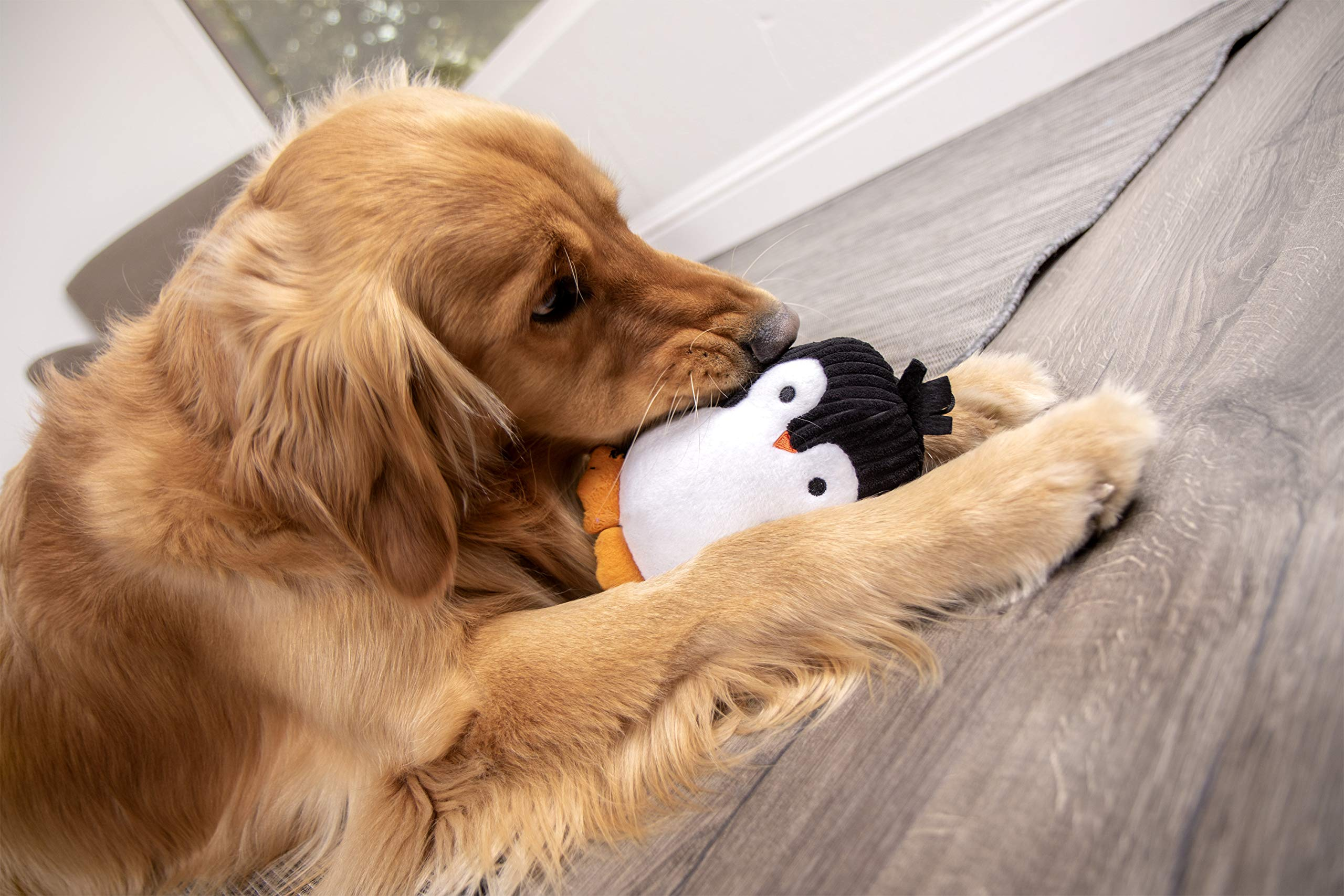 TrustyPup-Penquin-Plush-Dog-Toy-with-Silent-Squeaker
