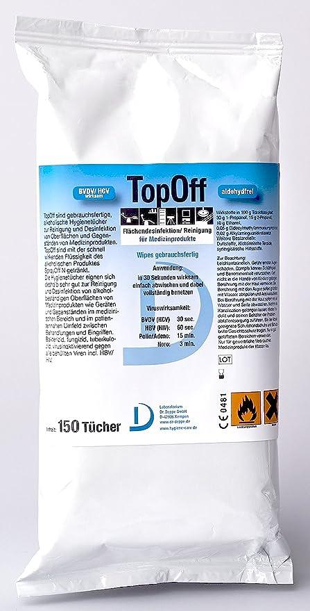 TOP APAGADO Toallitas desinfectantes Toallitas de higiene Pack de recarga 150 Pieza