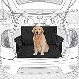 tecaroo Universal-Kofferraumdecke mit Seitenschutz, Schwarz   2 Jahre Zufriedenheitsgarantie   Auto-Schondecke, Kofferraum-Schutzdecke für Hunde
