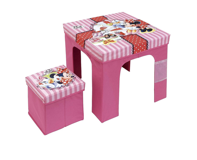 Rosa PP//Cartone Arditex Minnie Set Tavolo Pieghevole e Pouf cubo portaoggetti 50/x 50/x 40/cm