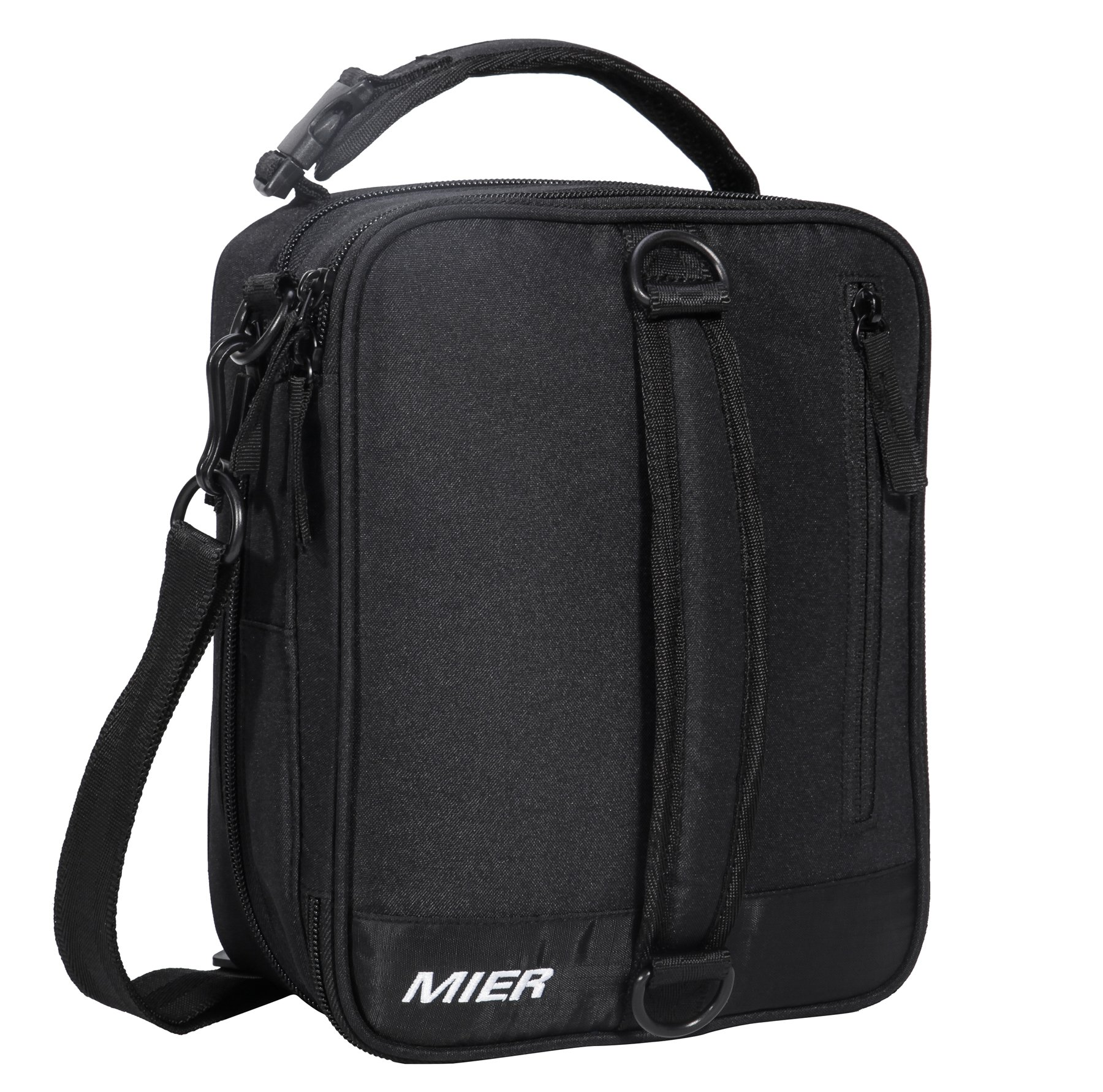 MIER Insulated Lunch Box Bag Expandable Lunch Pack for Men, Women, Black by MIER