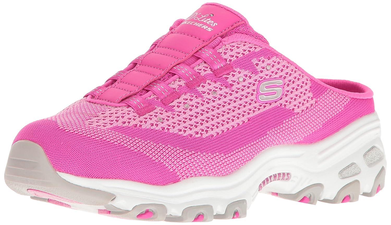 Skechers Sport Women's D'Lites Slip-On Mule Sneaker B01IG5HA4O 7 B(M) US|Hot Pink Knit
