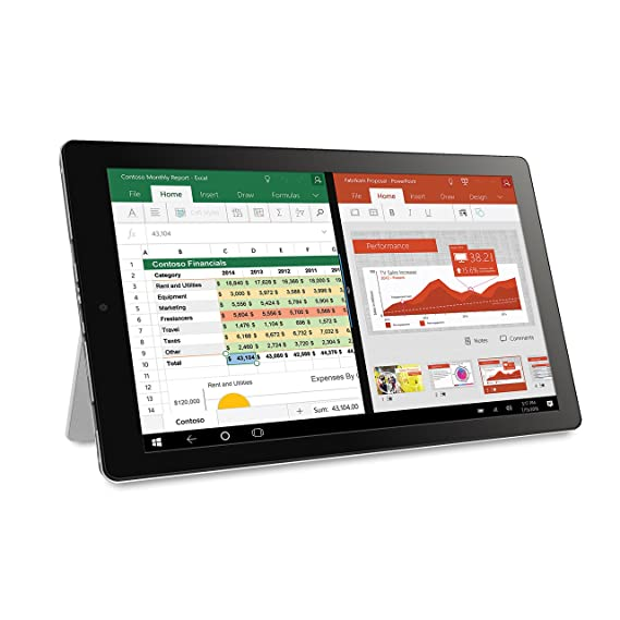 Amazon.com: RCA 10.1 CAMBIO W101 V2, Windows 10, 2 in1 Tablet PC W/ Detachable Keyboard, Blue Color.: Computers & Accessories