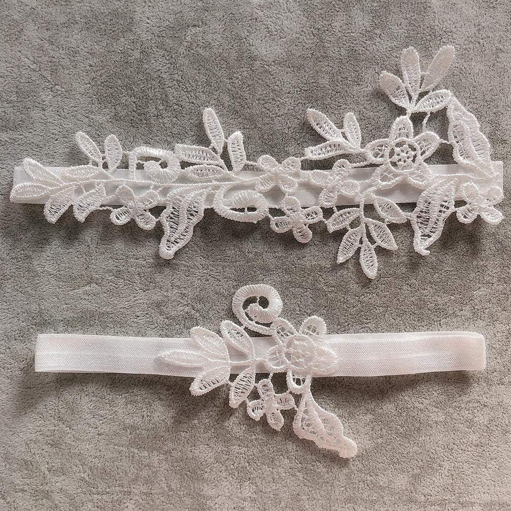 Regular Code Essencedelight Lace Garter Thigh Ring Wedding Prom Gift for Bride Bridesmaid,Navy