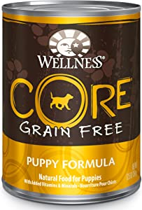 Wellness CORE Natural Wet Canned Grain Free Puppy Food,Turkey, Chicken & Herring, 12.5-Ounce Can (Pack of 12)