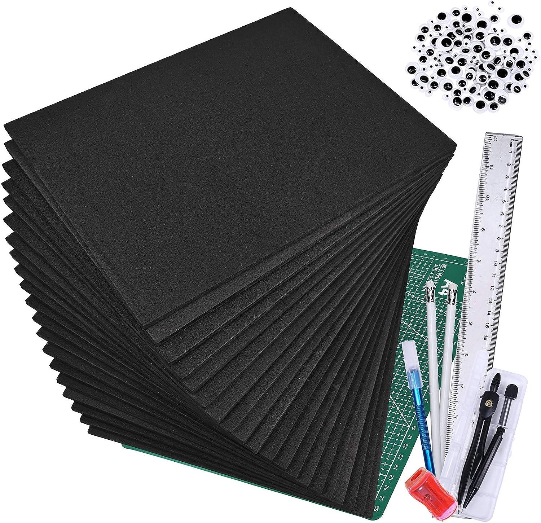 EVA Foam Micro-Mark CosFoam 2 Sheets Black, 6mm
