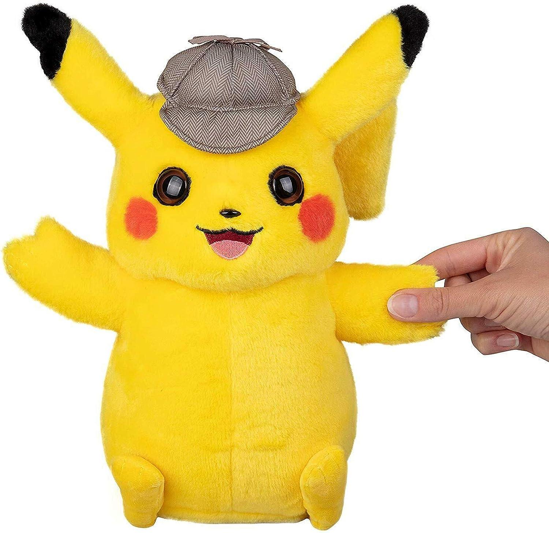 Amazon Com Boti Pokemon Detective Pikachu Talking Plush Figure Pikachu 35 Cmenglish Version Toys Games