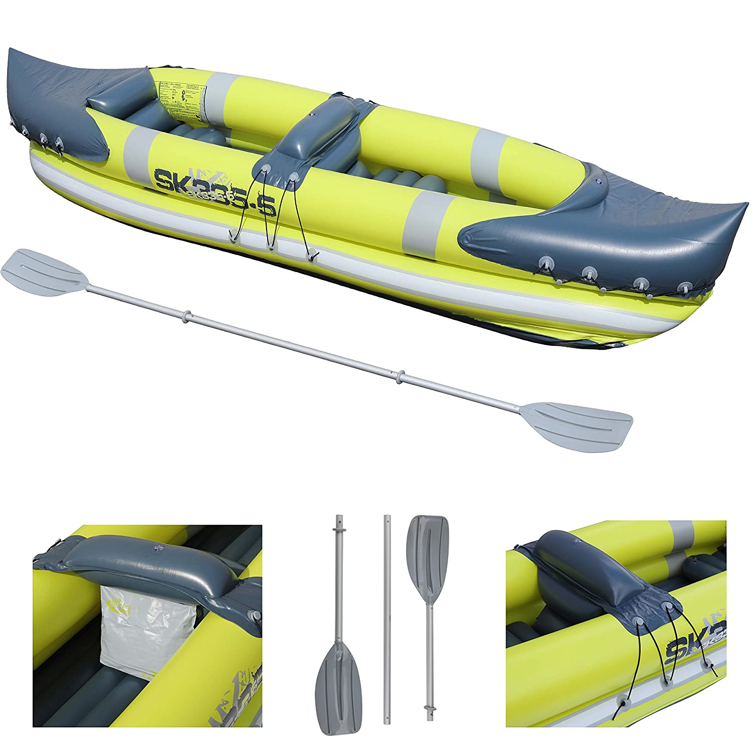 Inflatables Intex K1 Challenger 1 Man Person Inflatable Kayak Canoe Oars Pump Dinghy Boat