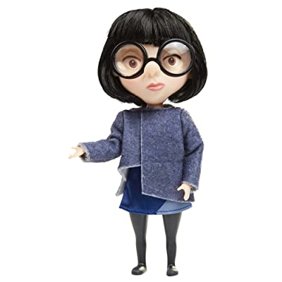 The Incredibles 2 Edna Action Figure Doll in Deluxe Blue Costume and Glasses: Toys & Games