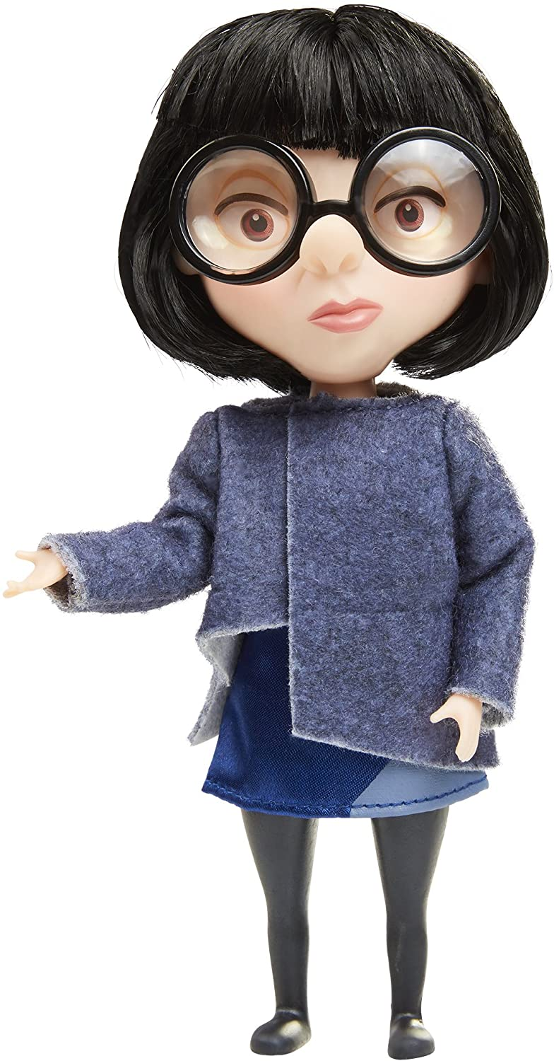 Amazon Com The Incredibles 2 Edna Action Figure Doll In Deluxe Blue Costume And Glasses Toys Games