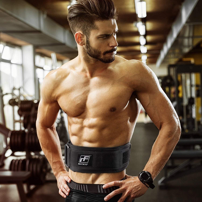 RitFit Gewichtheben-Gurt 4 Zoll schwarz Squat feste /& komfortable Lordosenst/ütze mit R/ückenverletzungsschutz Olympic Lifting f/ür M/änner und Frauen Crossfit