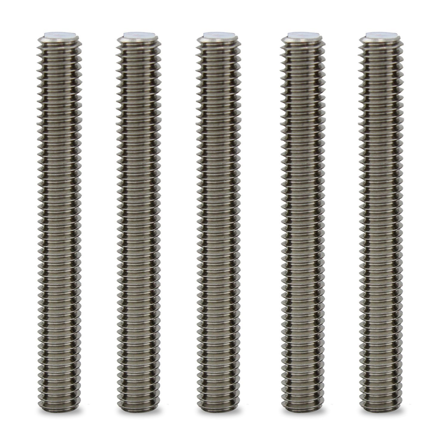 M6*4CM 5pcs Barrel Stainless Steel Nozzle Throat with PTFE Tube 3D Printer Extruder Hot End Accessory for Makerbot MK8