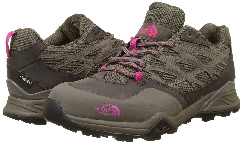 The North Face Damen Hedgehog Hike Gore-Tex Trekking-& Wanderhalbschuhe, Mehrfarbig (Falcon Brown/Cabaret Pink), 36.5 EU