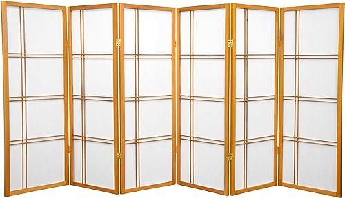 Oriental Furniture 4 ft. Tall Double Cross Shoji Screen
