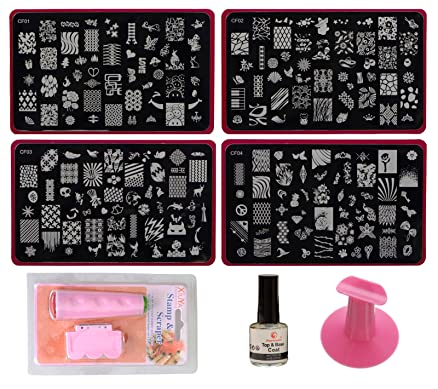 Lifestyle youtm nail art stamping kit decoration with jumbo image lifestyle you nail art stamping kit decoration with jumbo image plates gift for girl prinsesfo Choice Image