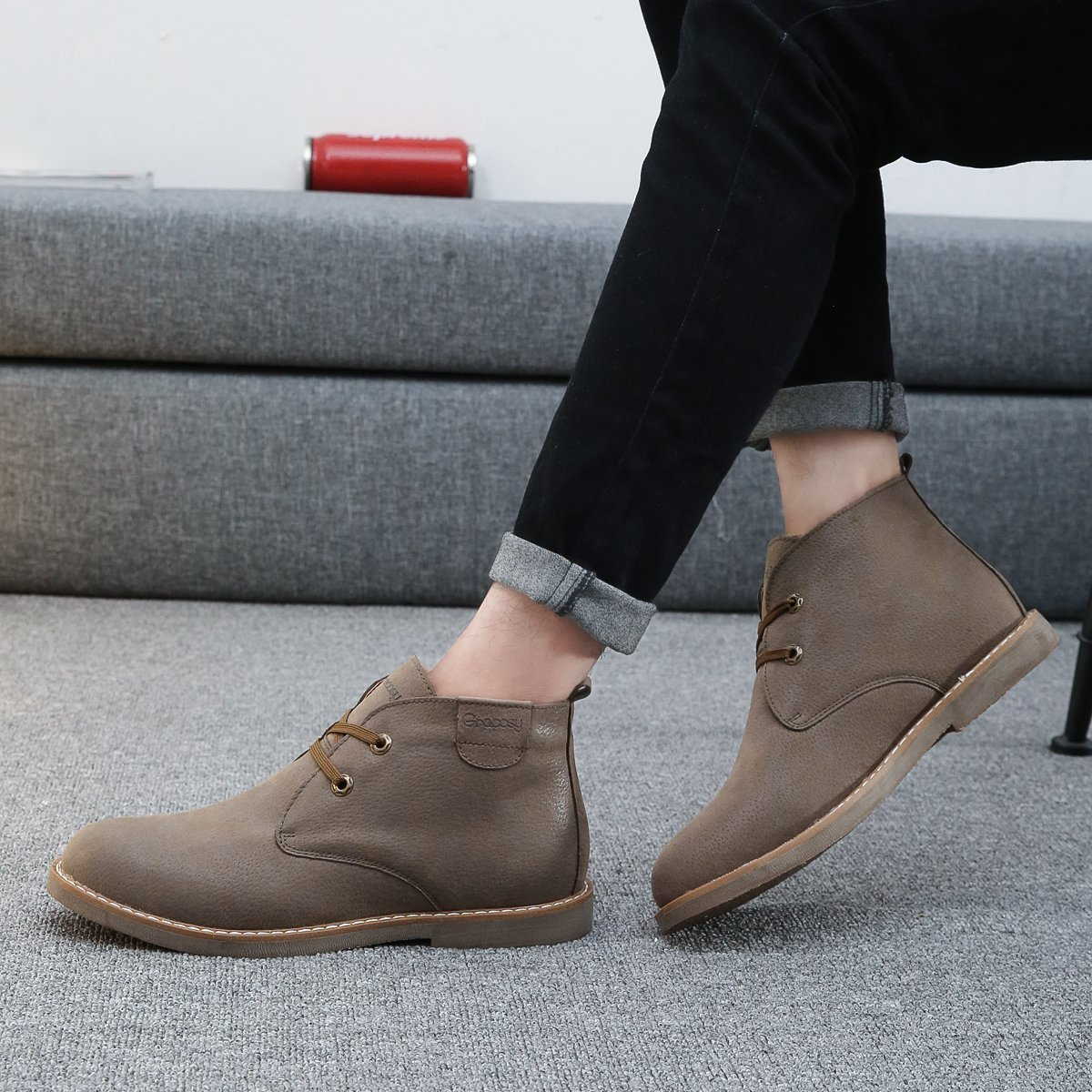 Winter Chukka Boot Lace Up Ankle Boots Fashion Casual Shoes gracosy Desert Boot for Men
