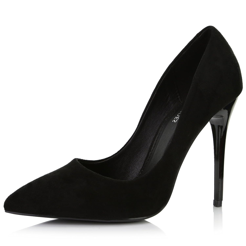 DailyShoes レディース B07DFRKWQS 9 B(M) US|ブラックスエード ブラックスエード 9 B(M) US