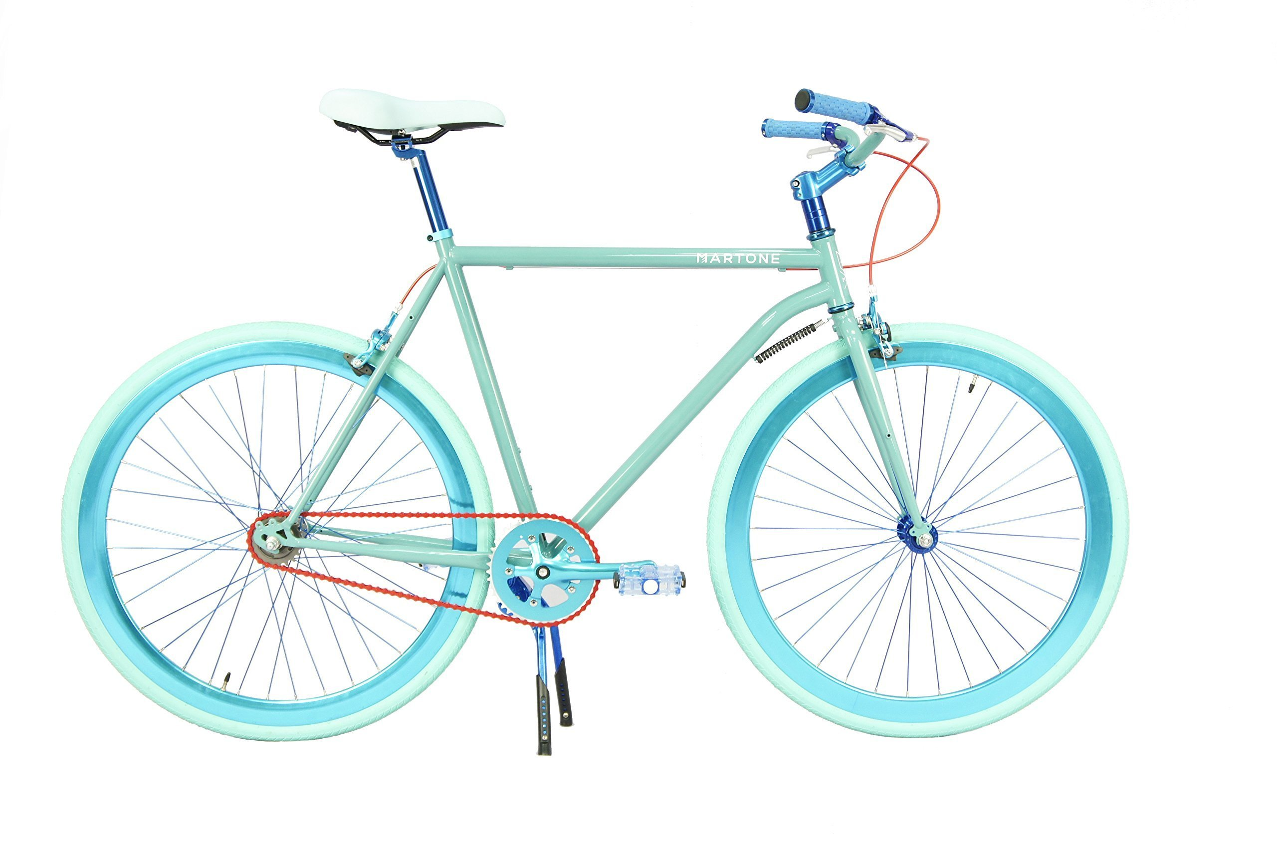 Martone Cycling Co. Men's Pacific Bicycle 52 Diamond Frame, Blue, 52cm/One Size