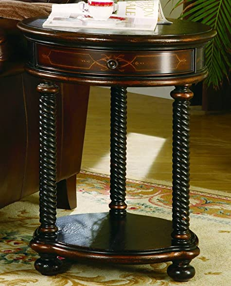 Hooker Furniture 989 50 104 Westcott Round Accent Table, Black