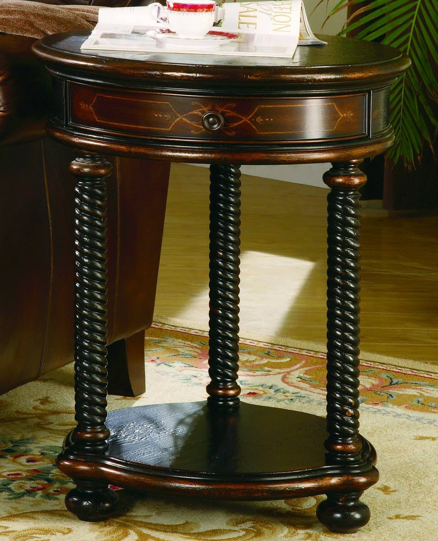 Hooker Furniture 989-50-104 Westcott Round Accent Table, Black