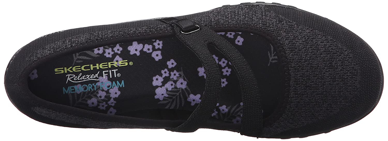 Skechers Sport Women's Breathe Easy Lovestory Mary Jane Flat B071S64MXL Mesh/Charcoal 9 W US|Black Knit Mesh/Charcoal B071S64MXL Trim 03f6c4