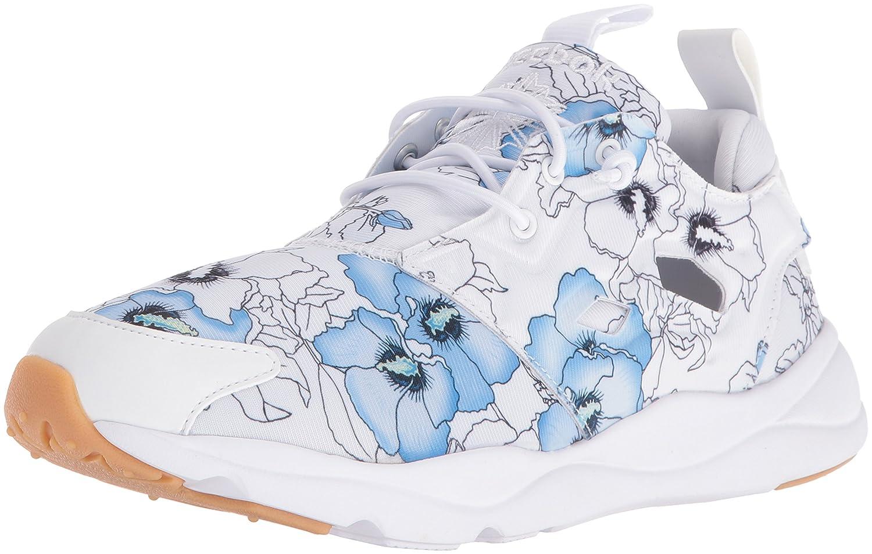 Reebok Women's Furylite FG Fashion Sneaker B01L7HCTZ8 9.5 B(M) US|Floral/White/Black Gum