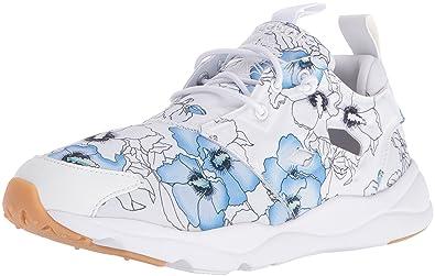 sale retailer 955d3 fa536 Reebok Women s Furylite fg Fashion Sneaker, Floral White Black Gum, ...