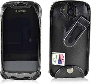 product image for Turtleback Fitted Case Made for Kyocera DuraForce PRO E6810 E6820 E6830 Phone Black Leather Rotating Removable Belt Clip Made in USA