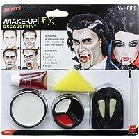Smiffys Sm37808 Set Maquillage Vampire S Canines Une Éponge La Peinture Pour Le Visage Et Du Sang Dans Un Tube Taille Unique