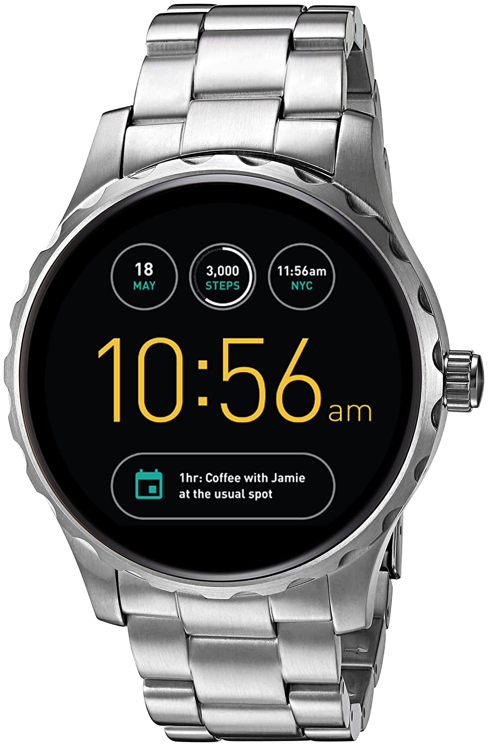cc2c37e11c016 Buy Fossil Q Marshal Digital Multi-Colour Dial Men s Watch-FTW2109 Online  at Low Prices in India - Amazon.in