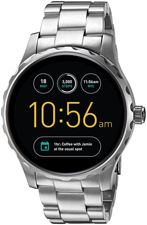 Fossil Reloj Analógico para Hombre de Digital con Correa en Acero Inoxidable FTW2109