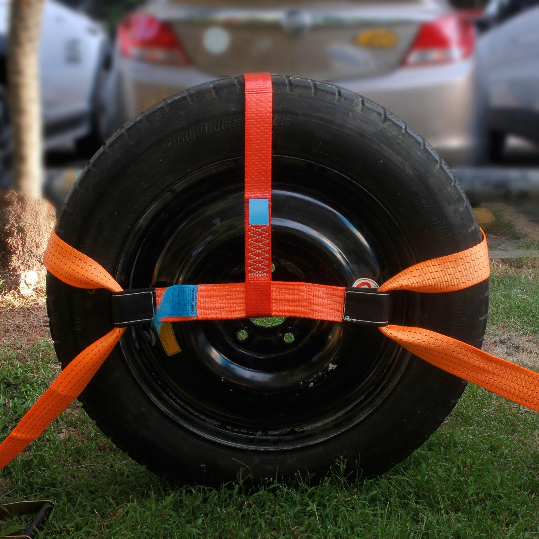 4X spanngurte Auto transporte 2500/5000 daN 2.8 M 50 mm, carraca correa con tensor de carraca, color naranja: Amazon.es: Industria, empresas y ciencia