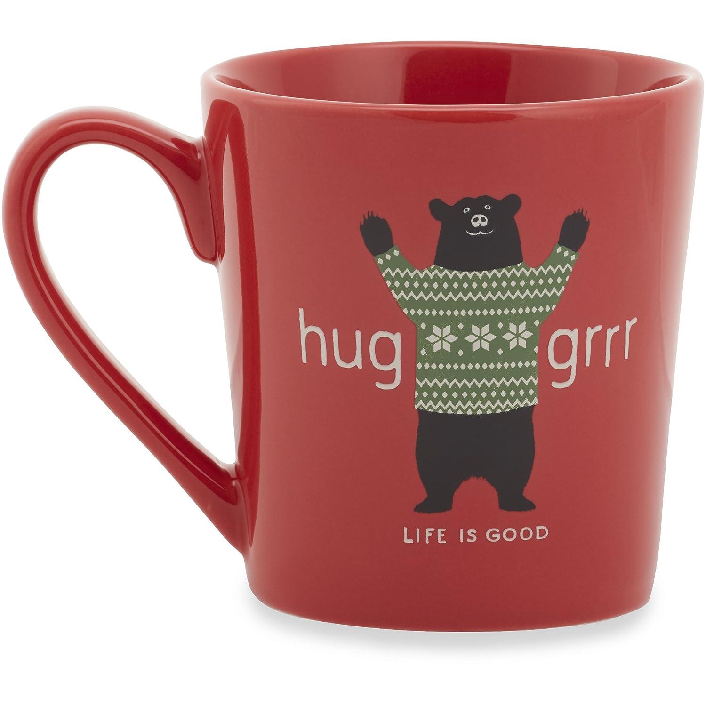 Hugger Americana Red Life is Good Coffee Mug One Size