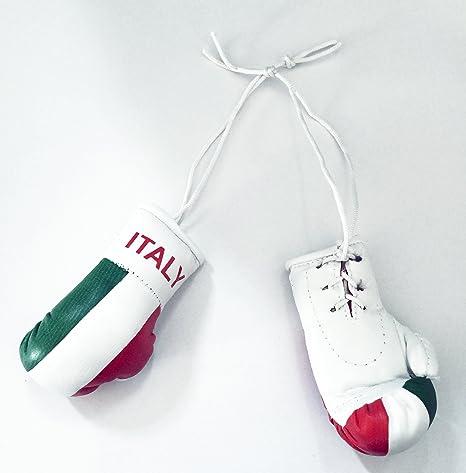 Italia bandera Mini guantes de boxeo un par para colgar de la novedad espejo de coches