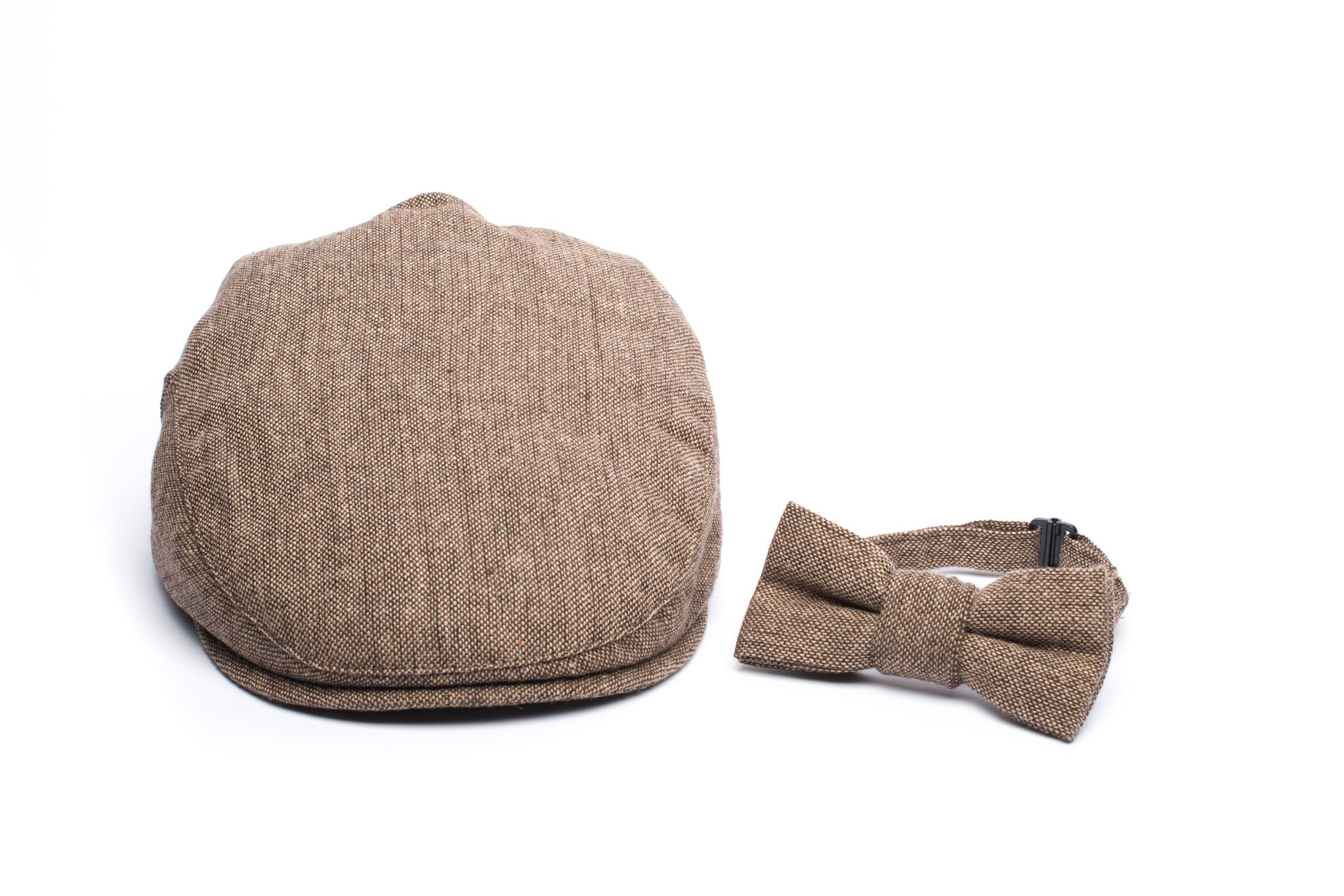 Born to Love - Baby Boy's Hat Vintage Driver Caps (XL 56cm (6-8 yrs), tan with Bow) by Born to Love (Image #2)
