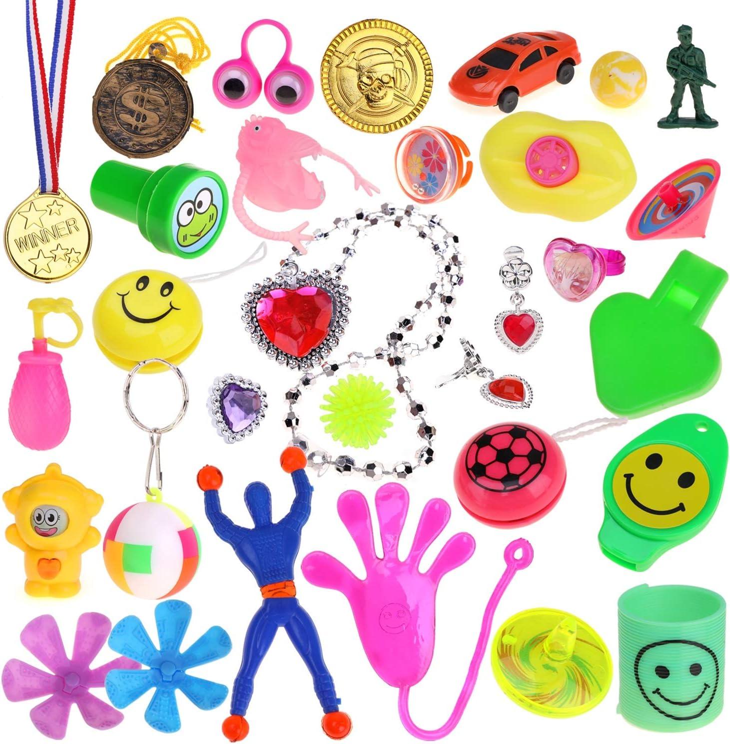 Ogni Uovo 6x4cm per Regalo di Pasqua Bambini Gadget Compleanno Howaf 30pcs Colorate Uova di Pasqua con Dentro 30 Giocattoli Diversi