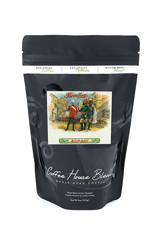 Bombayブランドシガーボックスラベル B074RV761L 8oz Coffee Bag8oz Coffee Bag