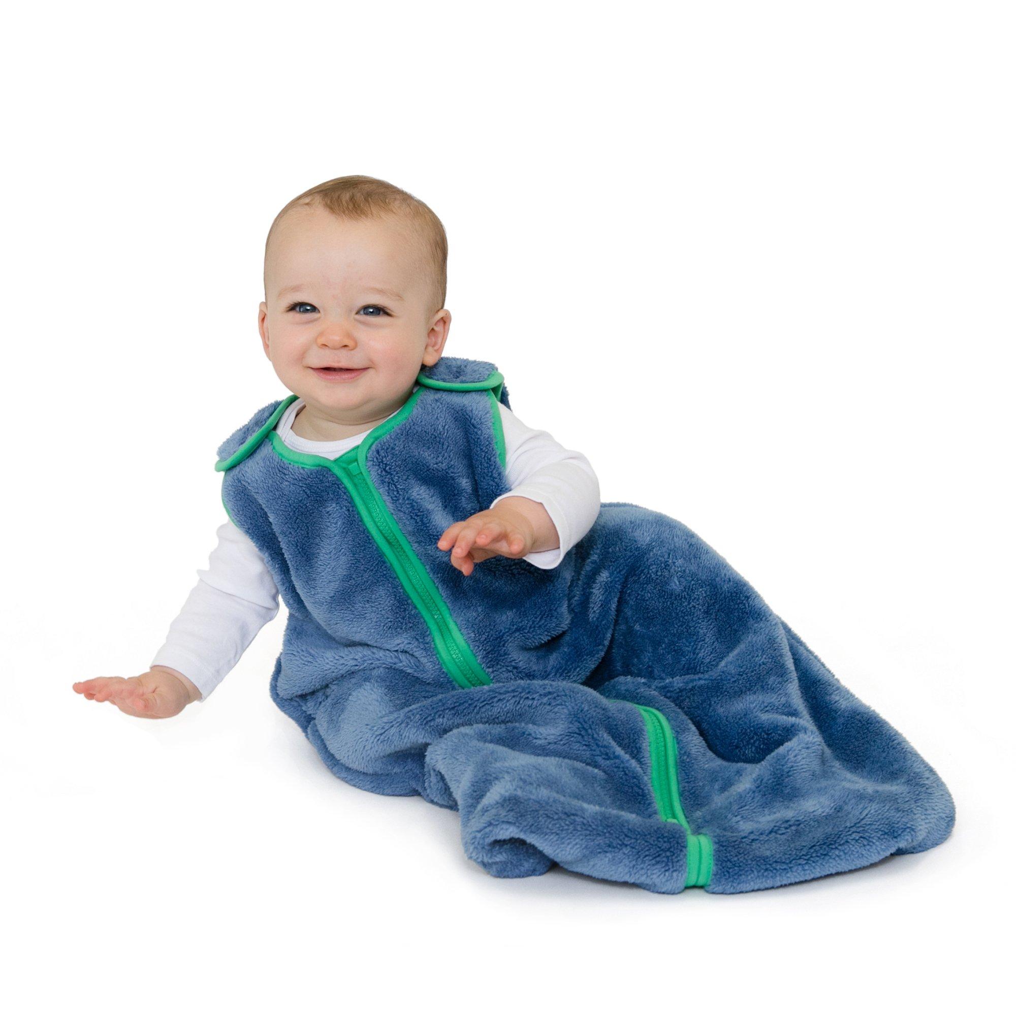 baby deedee Sleep Nest Teddy Baby Sleeping Bag, Fuzzy Dino, Large (18-36 Months) by baby deedee